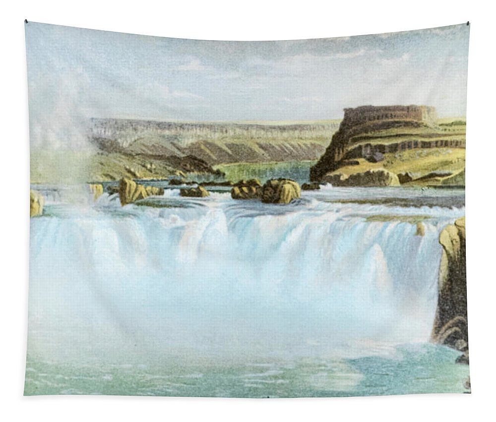 Canadian Tapestry featuring the photograph Canadian Water Fall by Douglas Barnett