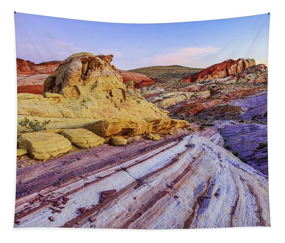 Candy Cane Desert Tapestry featuring the photograph Candy Cane Desert by Chad Dutson