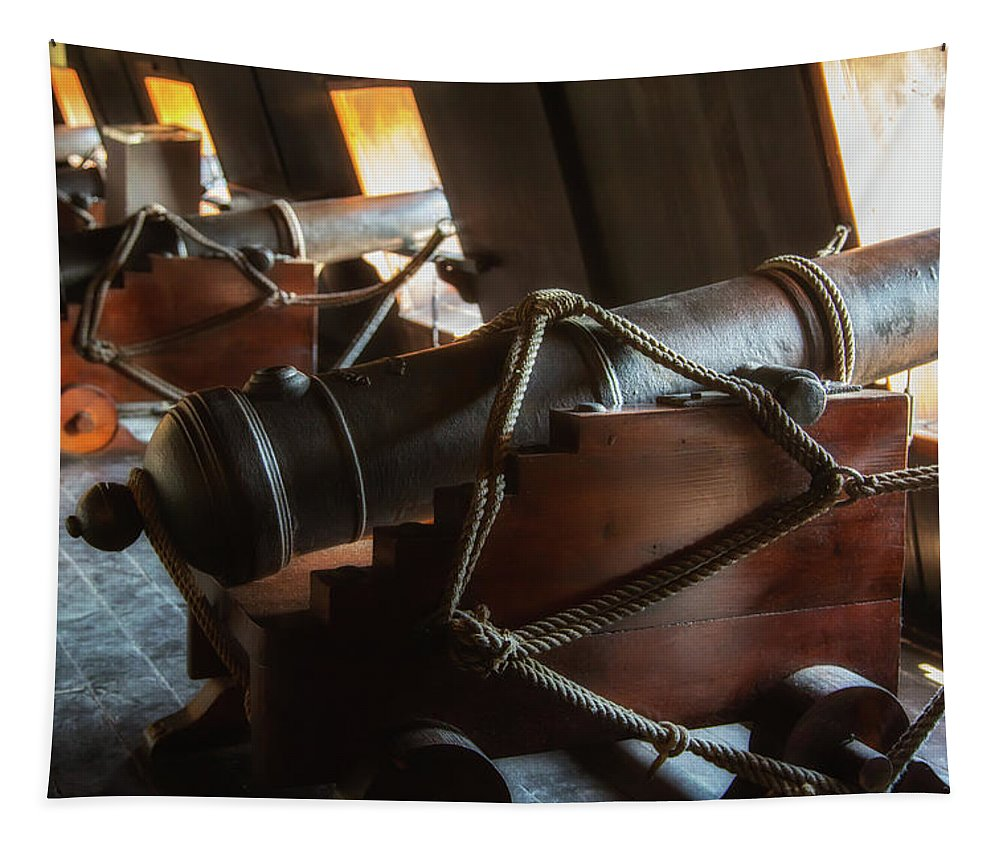 Cannon Tapestry featuring the photograph Cannons Below by Dale Kincaid