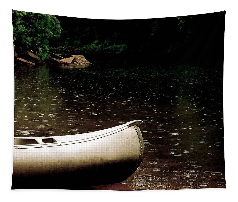 Canoe Tapestry featuring the photograph Canoe by Melisa Elliott