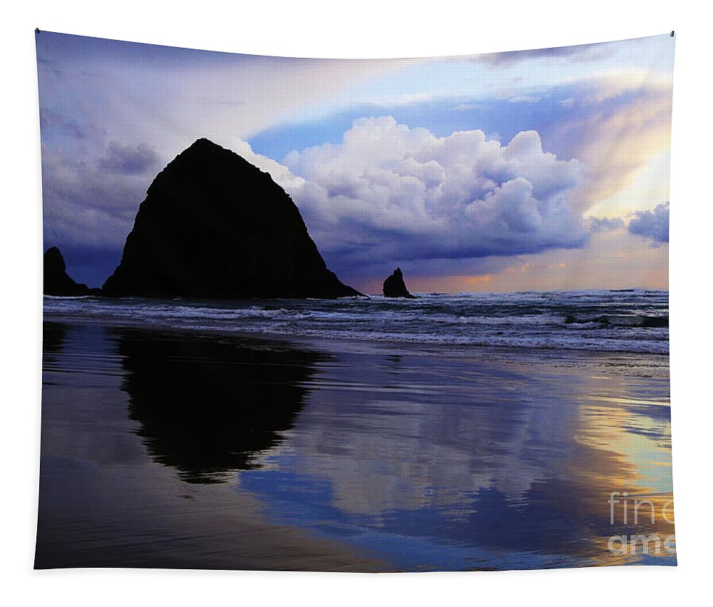 Cannon Beach Tapestry featuring the photograph Cannon Beach Nature's Symphony by Bob Christopher