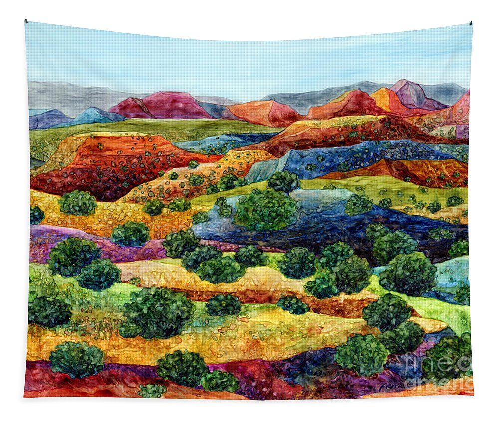 Canyon Tapestry featuring the painting Canyon Impressions by Hailey E Herrera