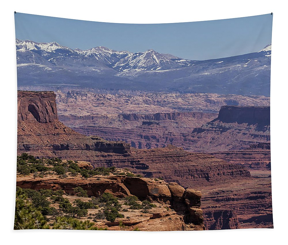 Canyons Tapestry featuring the photograph Canyons Of Dead Horse State Park by Belinda Greb