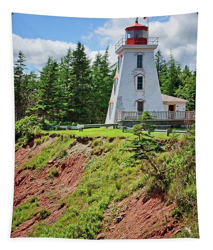 Cape Bear Lighthouse Tapestry featuring the photograph Cape Bear Lighthouse - 2 by Nikolyn McDonald