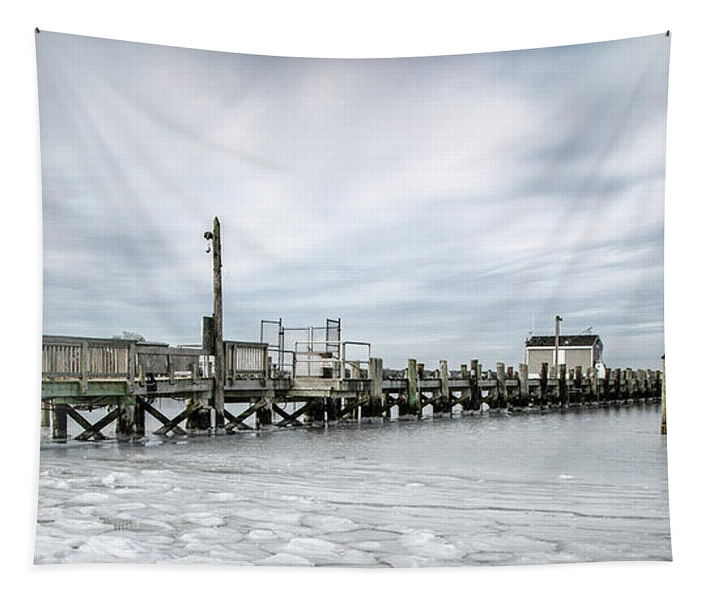 Cape Cod Tapestry featuring the photograph Cape Cod Winter by Eleanor Bortnick
