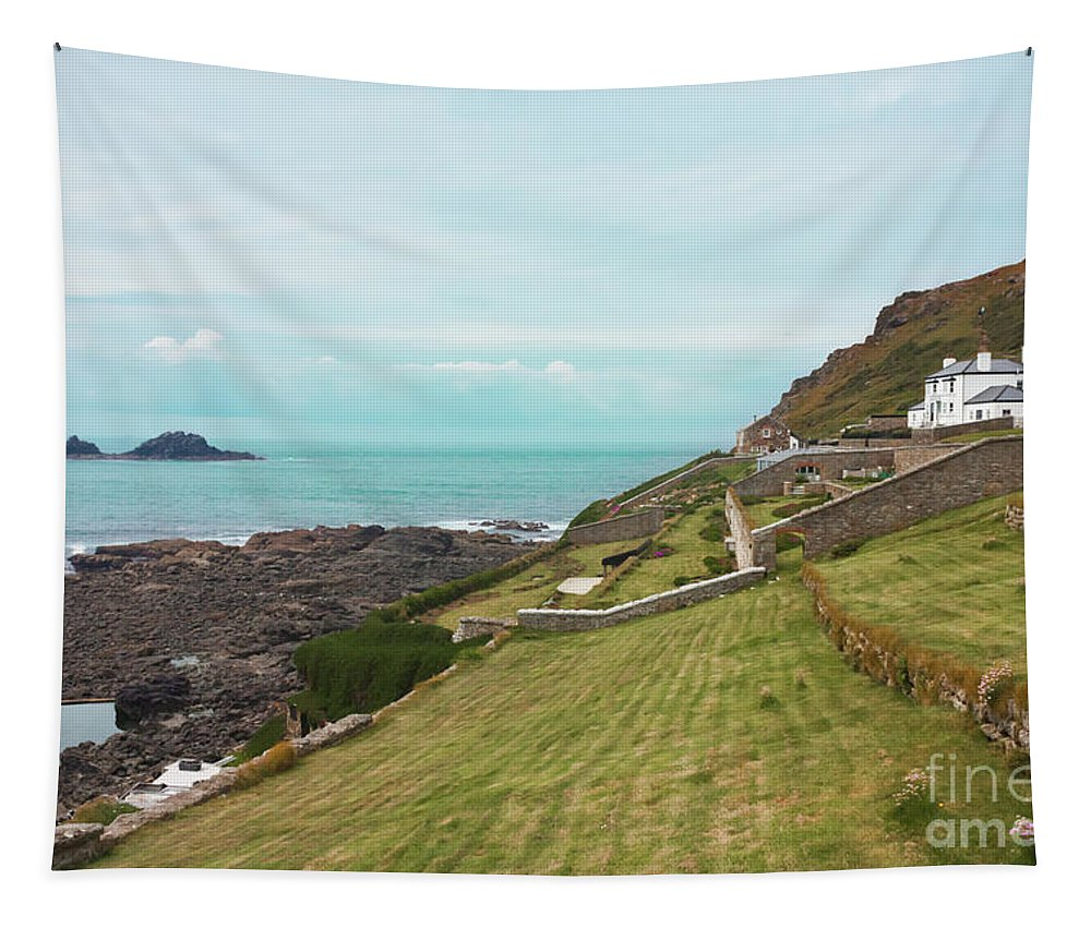 Cape Cornwall Tapestry featuring the photograph Cape Cornwall by Terri Waters