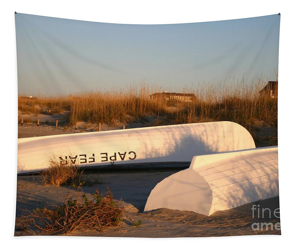 Boats Tapestry featuring the photograph Cape Fear Boats by Nadine Rippelmeyer