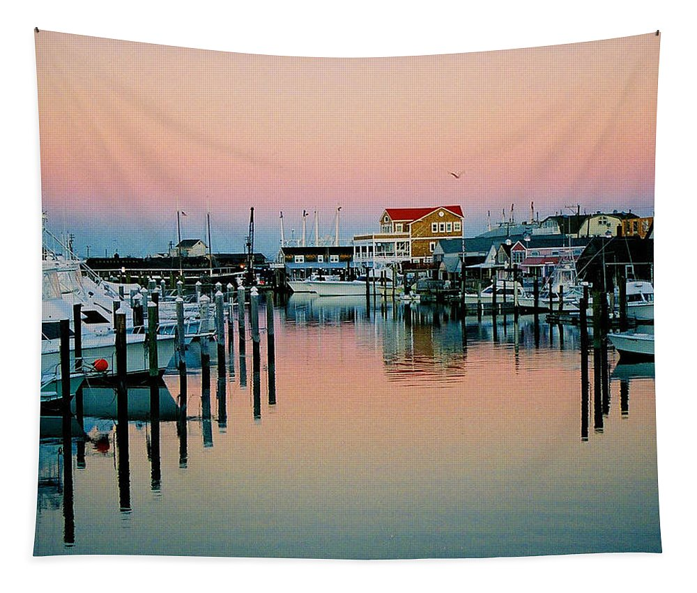Cape May Tapestry featuring the photograph Cape May After Glow by Steve Karol
