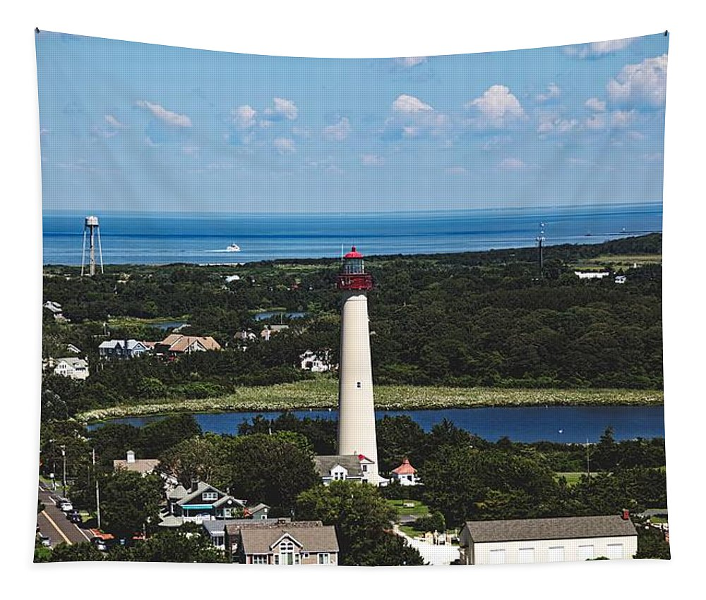 Cape May Point Lighthouse Tapestry featuring the photograph Cape May Point Lighthouse by Mountain Dreams