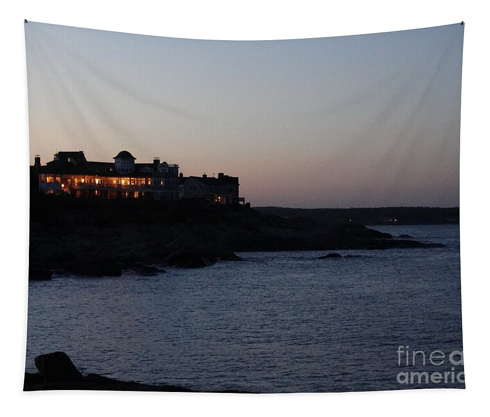 Maine Tapestry featuring the photograph Cape Neddick In Maine by Gina Sullivan