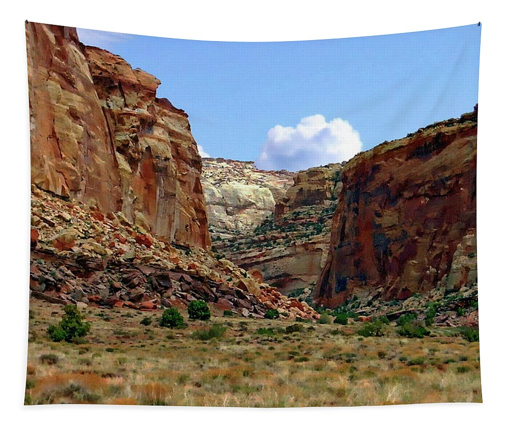 Amazing Tapestry featuring the photograph Capitol Reef National Park by Anthony Dezenzio