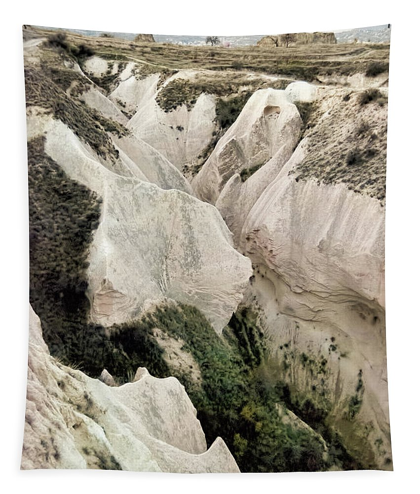 Cappadocia Canyon Tapestry featuring the photograph Cappadocia Canyon by Phyllis Taylor