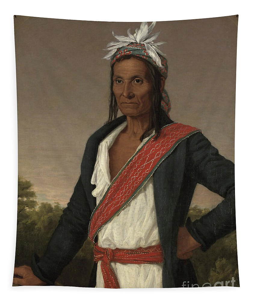 Captain Cole Tapestry featuring the painting Captain Cole by William John Wilgus
