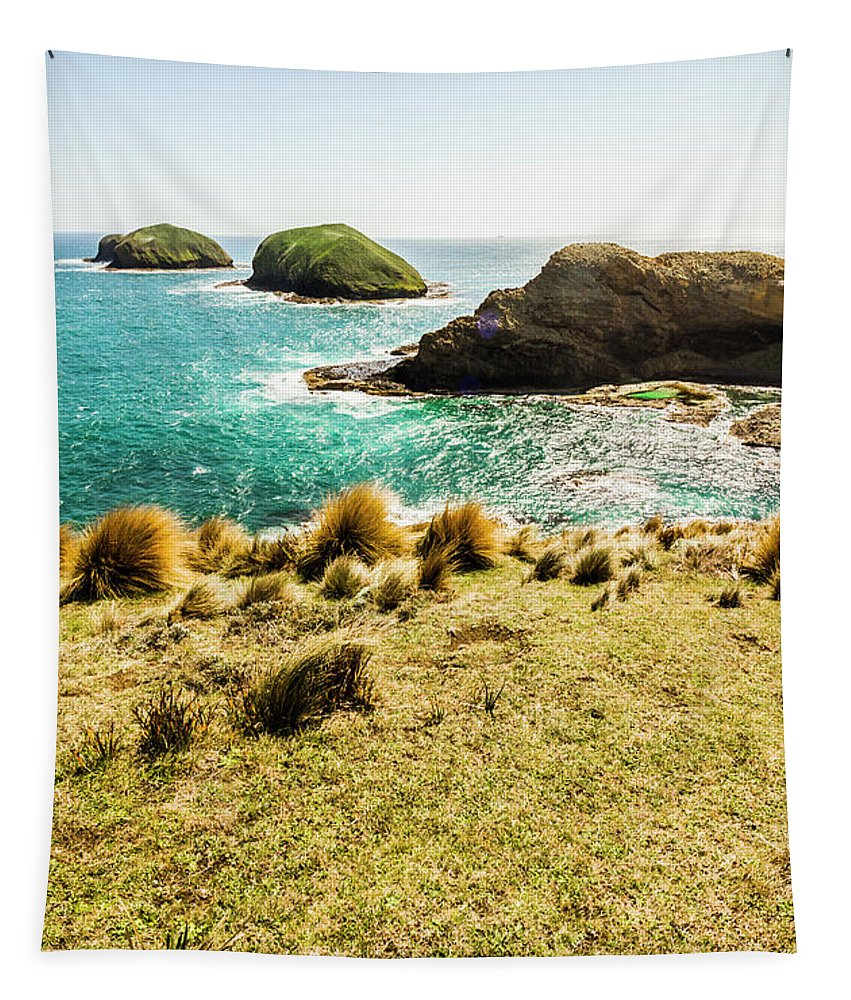 Coast Tapestry featuring the photograph Captivating Coastal Cliff by Jorgo Photography - Wall Art Gallery