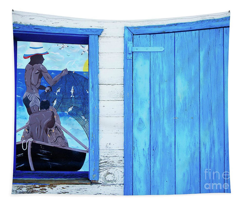 Caribbean Tapestry featuring the photograph Caribbean Blues by Bob Christopher