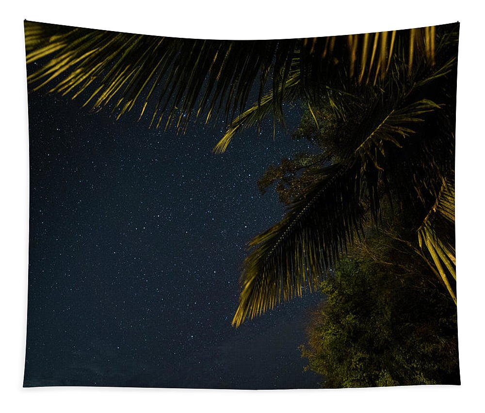 Caribbean Tapestry featuring the photograph Caribbean Nights Anse Chastanet by Toby McGuire