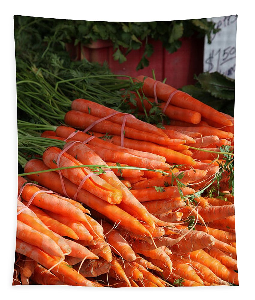 Stilllife Tapestry featuring the photograph Carrot Bounty by Portraits By NC
