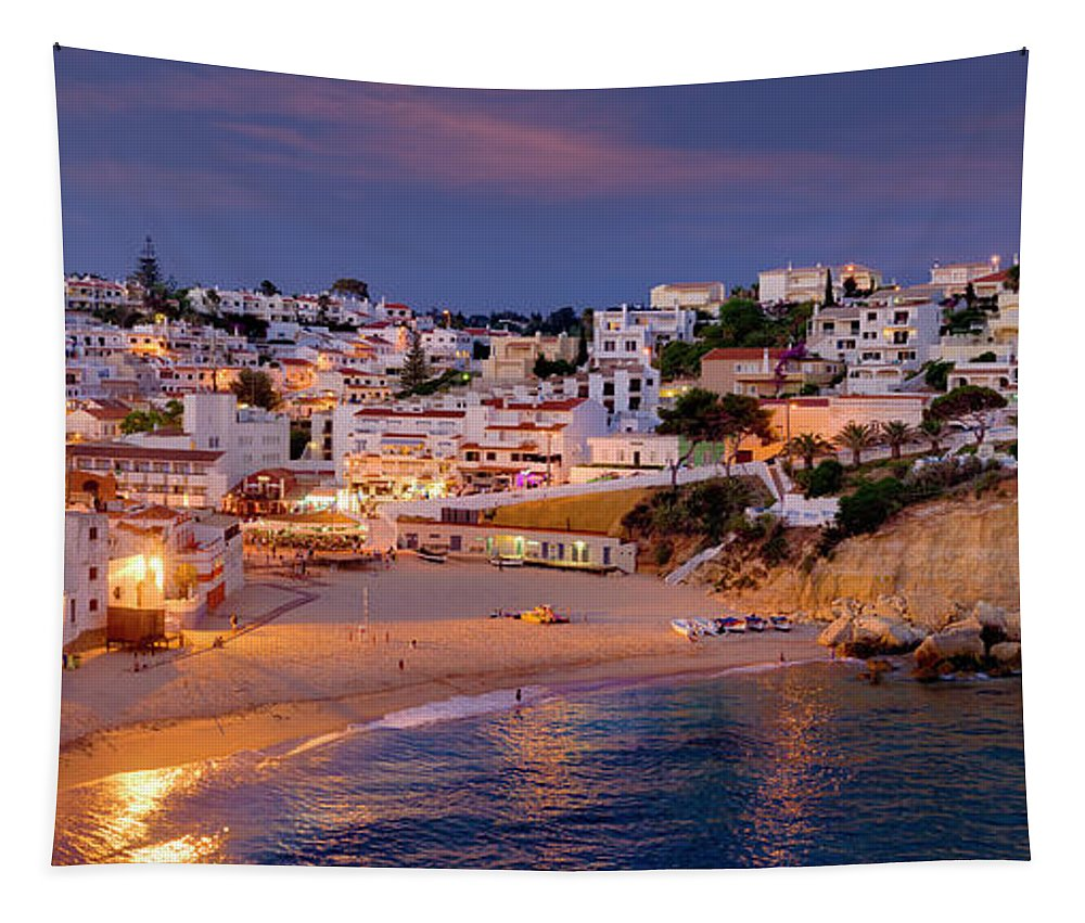 Carvoeiro Tapestry featuring the photograph Carvoeiro In The Evening by Mikehoward Photography