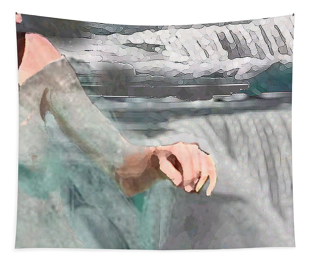 Waterscape Tapestry featuring the digital art Cascade by Steve Karol