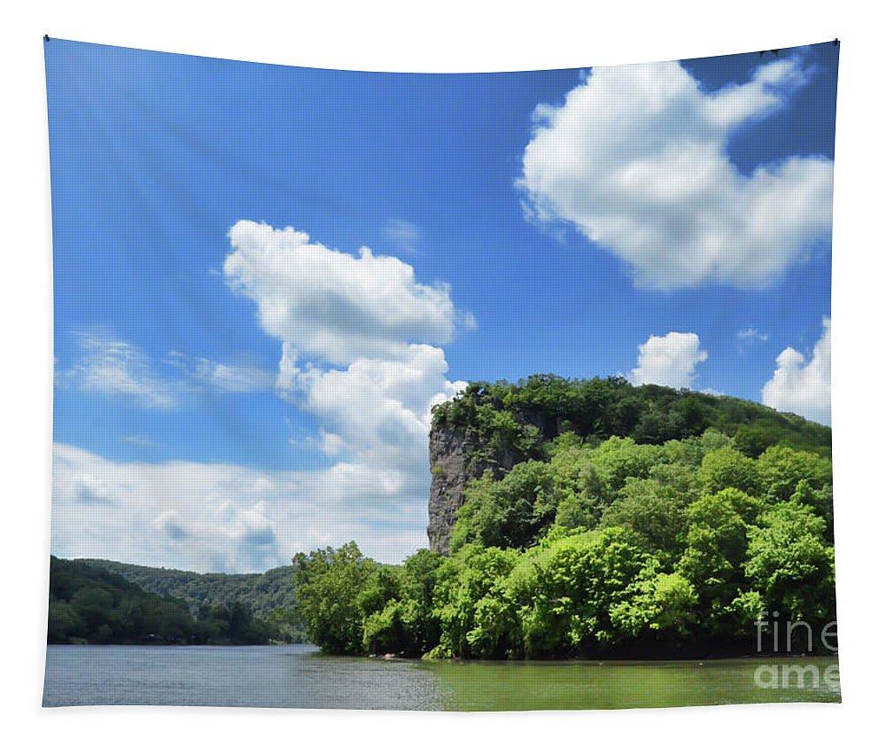 Castle Rock Tapestry featuring the photograph Castle Rock - Pembroke Virginia by Kerri Farley