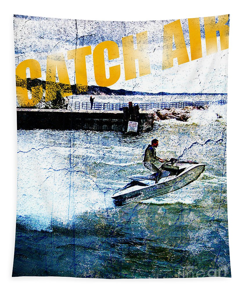 Photo Tapestry featuring the photograph Catch Air by Phil Perkins