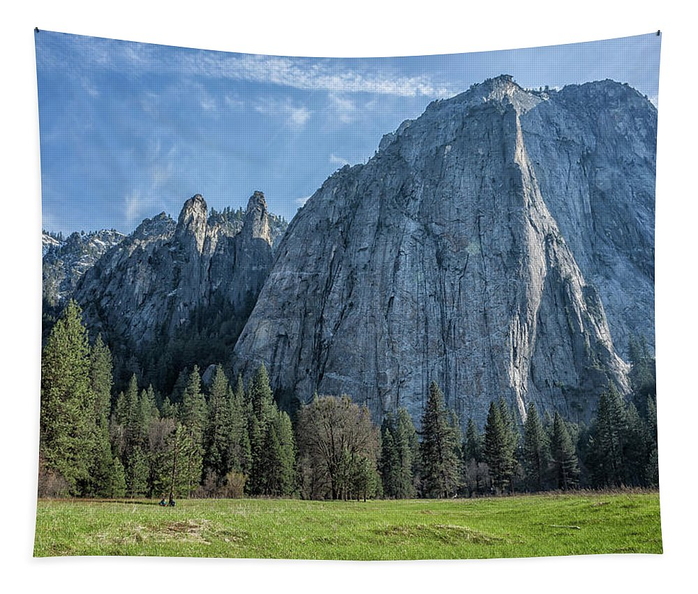 Cathedral Rock Tapestry featuring the photograph Cathedral Rock And Spires by Belinda Greb