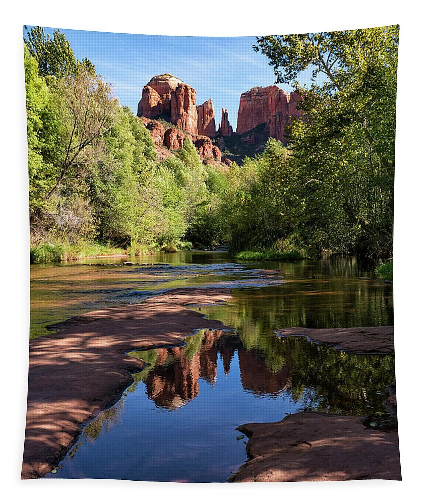 Cathedral Rock Of Sedona Tapestry featuring the photograph Cathedral Rock Of Sedona by Priscilla Burgers