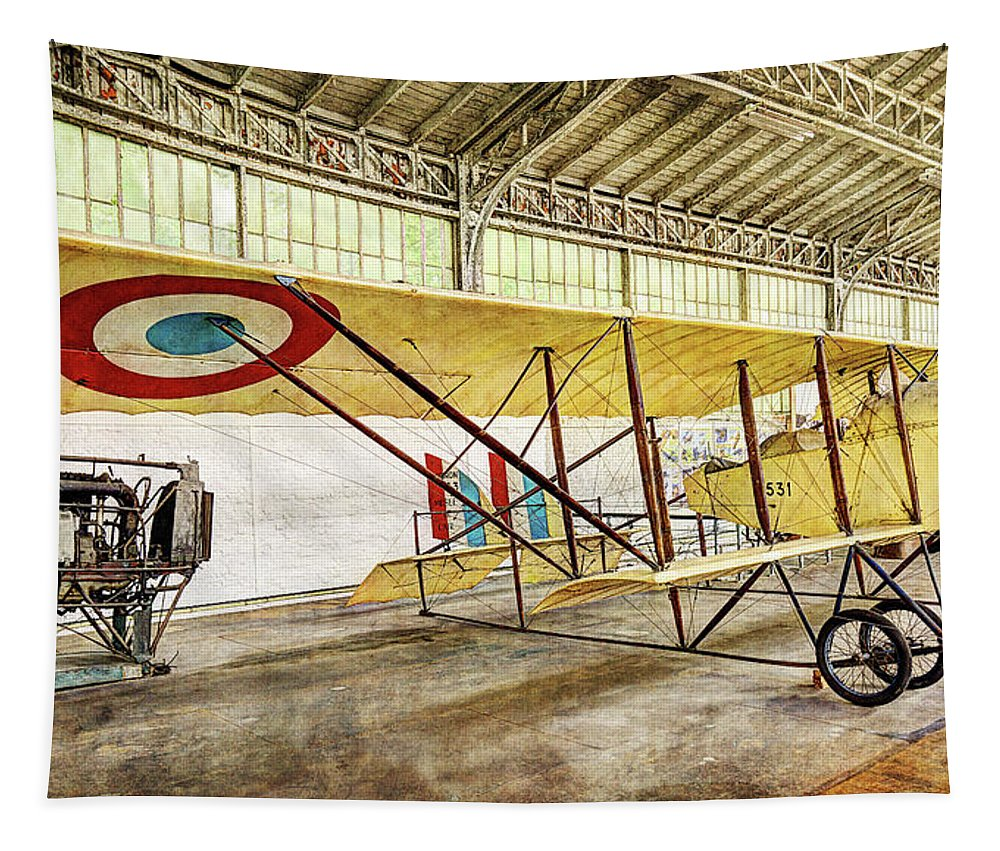 Caudron G3 Tapestry featuring the photograph Caudron G3 - Vintage by Weston Westmoreland