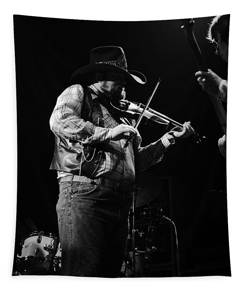 Charlie Daniels Tapestry featuring the photograph Cdb Winterland 12-13-75 #10 Crop 2 by Ben Upham