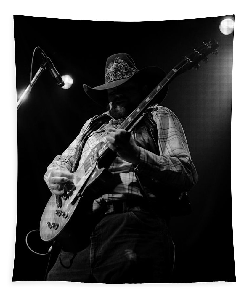 Charlie Daniels Tapestry featuring the photograph Cdb Winterland 12-13-75 #5 by Ben Upham