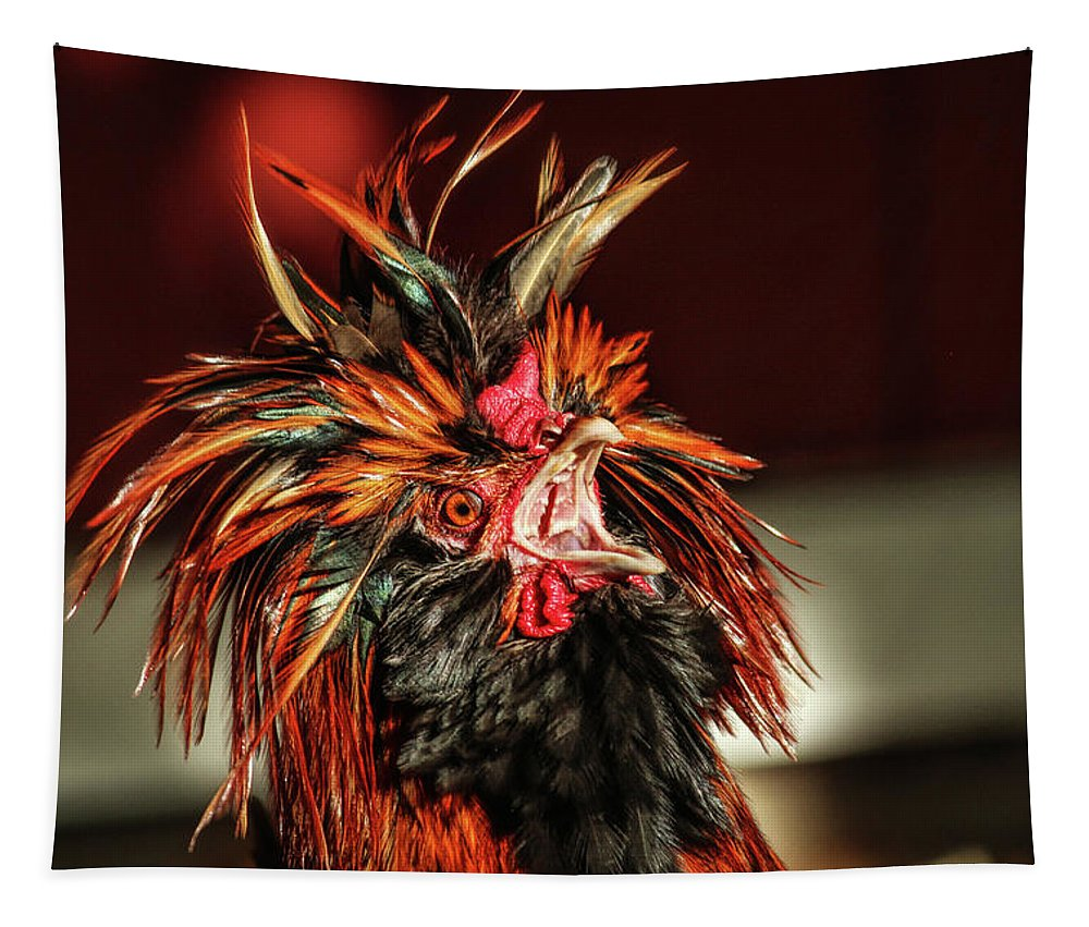 Rooster Tapestry featuring the photograph Something To Crow About by Lynn Sprowl
