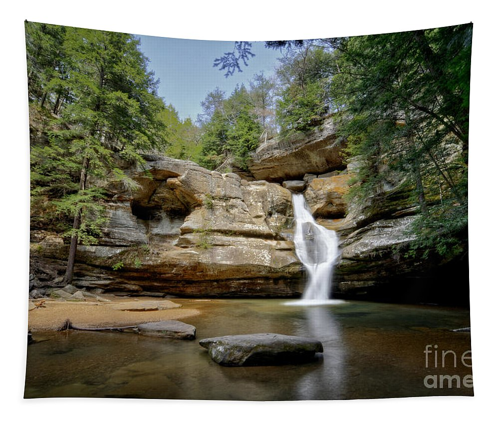 Cedar Falls Tapestry featuring the photograph Cedar Falls Ohio by Michael Shake