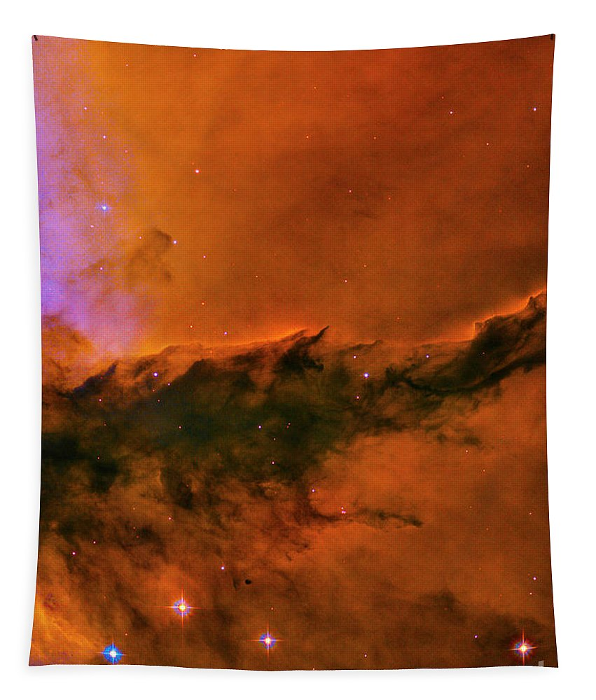 God Tapestry featuring the photograph Center - Triptych - Stellar Spire In The Eagle Nebula by Paul W Faust - Impressions of Light