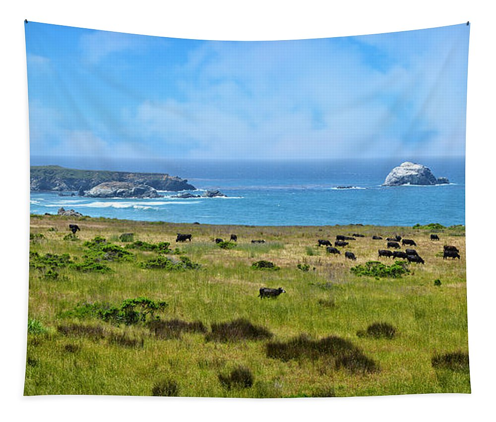 Cambria Tapestry featuring the photograph Central Coast Panorama - Hwy 1 by Lynn Bauer