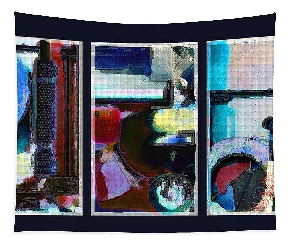 Abstract Tapestry featuring the digital art Centrifuge by Steve Karol