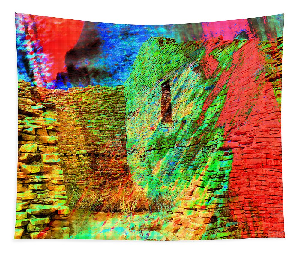 Building Tapestry featuring the photograph Chaco Culture Abstract by Jeff Swan
