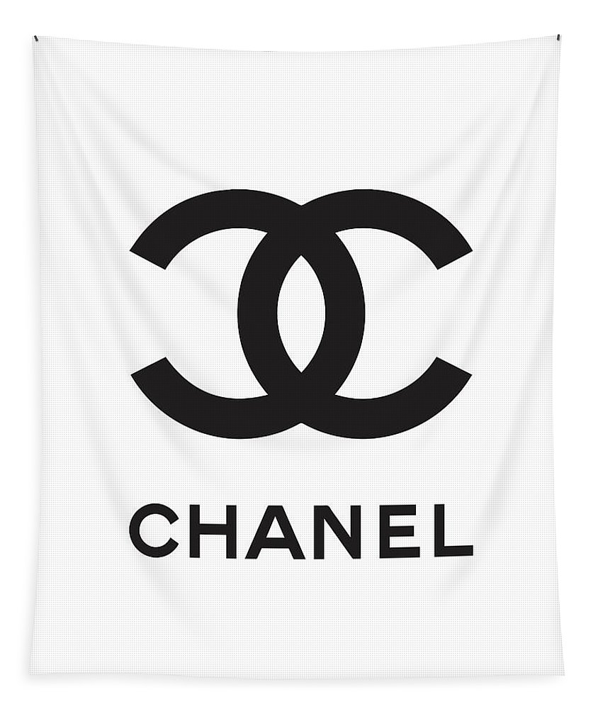 Chanel Tapestry featuring the digital art Chanel - Black And White 04 - Lifestyle And Fashion by TUSCAN Afternoon