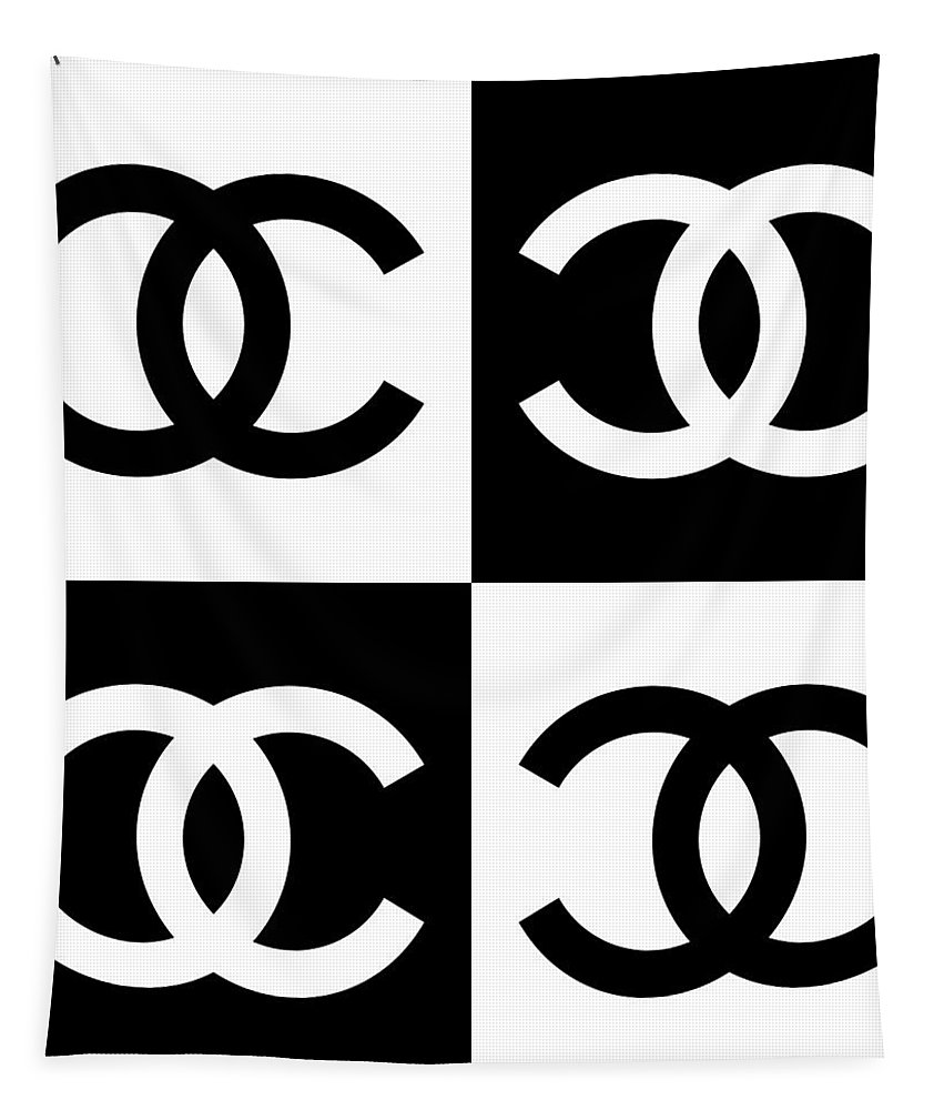 Chanel Tapestry featuring the painting Chanel Design-5 by Three Dots