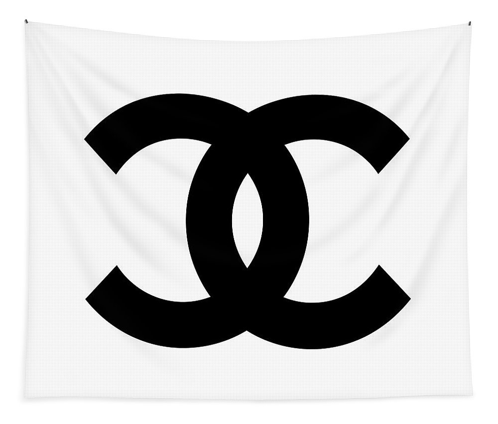 Chanel Tapestry featuring the digital art Chanel Symbol by Edit Voros