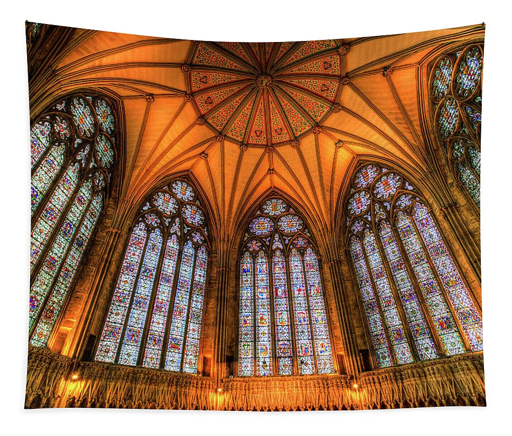 Chapter House Tapestry featuring the photograph Chapter House York Minster by David Pyatt