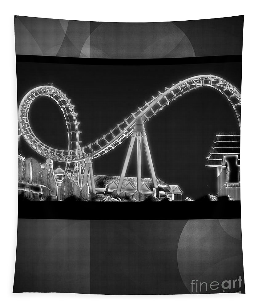 Abstract Tapestry featuring the photograph Charity Coaster by Tom Gari Gallery-Three-Photography