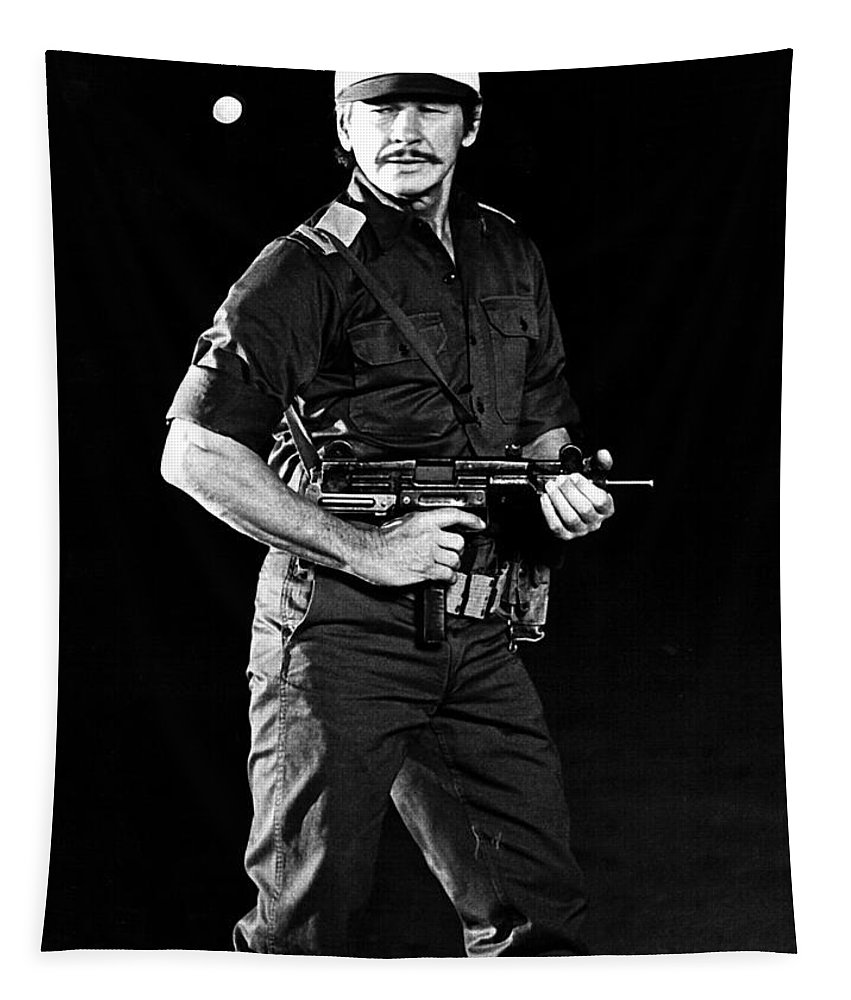 Publicity Photo Tapestry featuring the photograph Charles Bronson In Raid On Entebbe 1977 by Mountain Dreams