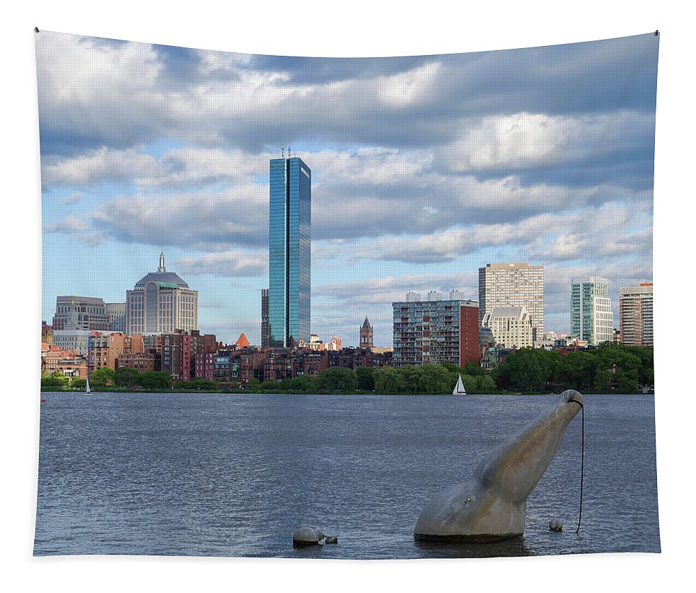 Boston Tapestry featuring the photograph Charles River Boston Ma Crossing The Charles by Toby McGuire
