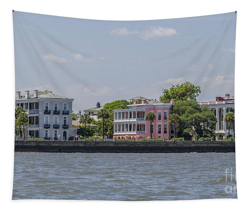 Charleston Tapestry featuring the photograph Charleston By The Sea by Dale Powell