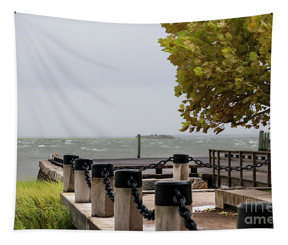 Tropical Storm Hermine Tapestry featuring the photograph Charleston Storming by Dale Powell