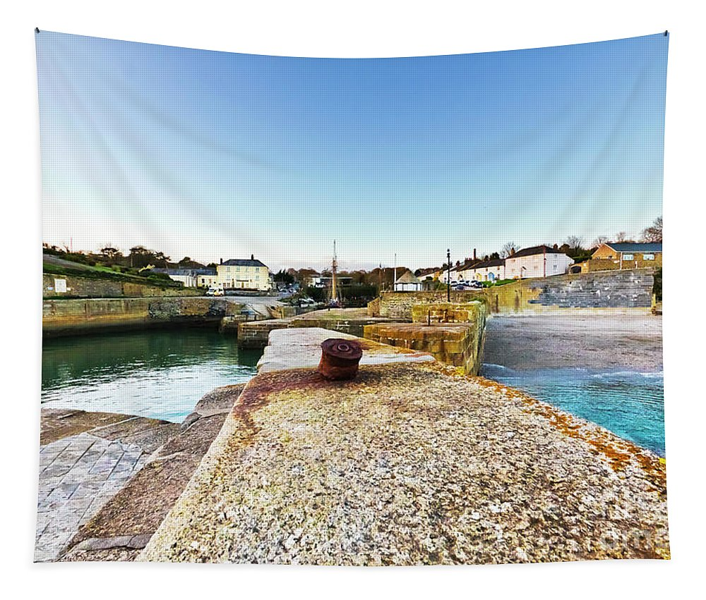 Charlestown Tapestry featuring the photograph Charlestown From The Sea Wall by Terri Waters