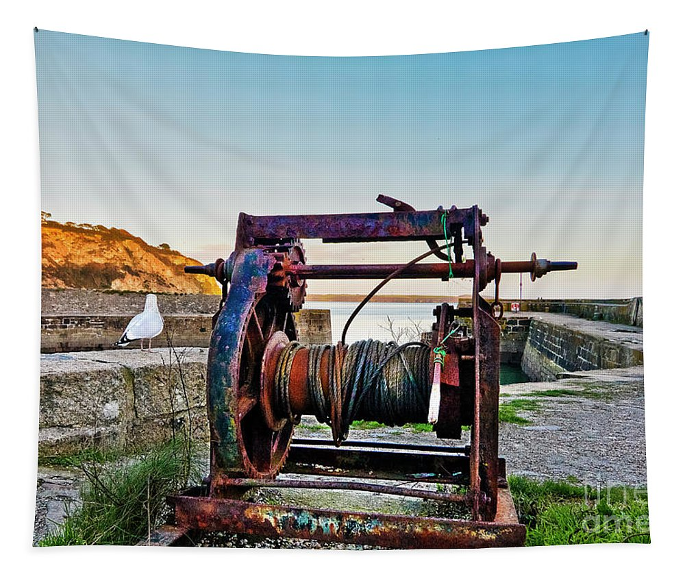 Charlestown Tapestry featuring the photograph Charlestown Winch by Terri Waters