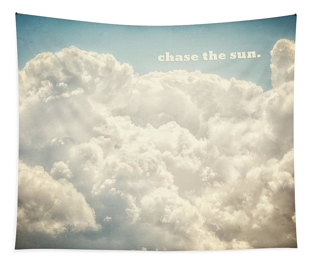 Cloud Tapestry featuring the photograph Chase the Sun by Lisa R