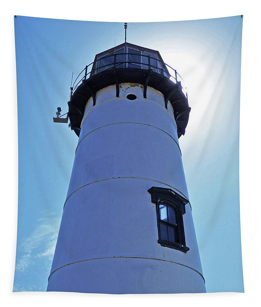 Landscape Tapestry featuring the photograph Chatham Lighthouse by Sharon Eng