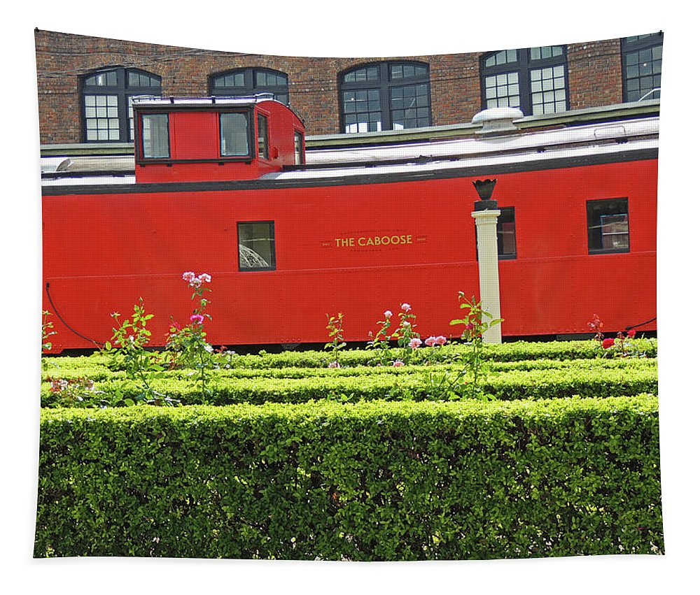 Train Tapestry featuring the photograph Chattanooga Choo Choo - The Caboose by Marian Bell